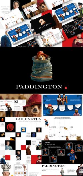 帕丁顿熊|卡通|电影|PPT模板