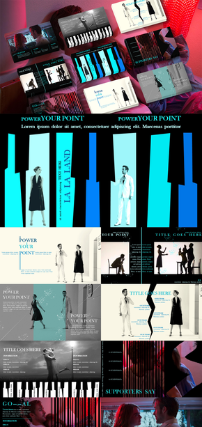 爱乐之城|电影|媒体|PPT模板