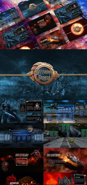 电竞类|网游|网络游戏|PPT模板