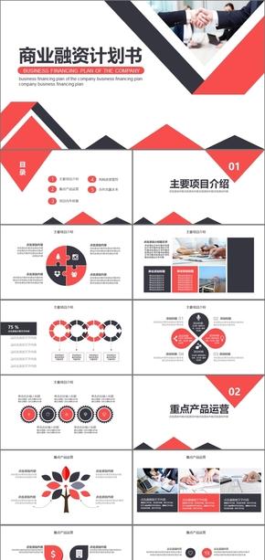 红黑简约商业计划书创业融资创业计划书商业融资创业投资商业策划商业计划书融资计划书PPT