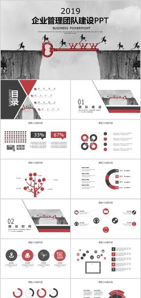 简约商务汇报企业宣传 企业文化 公司介绍 企业介绍简约企业构架介绍PPT模板