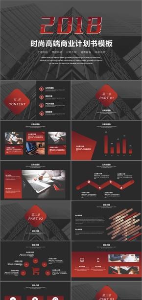 黑色时尚大气高端商业计划书PPT模板