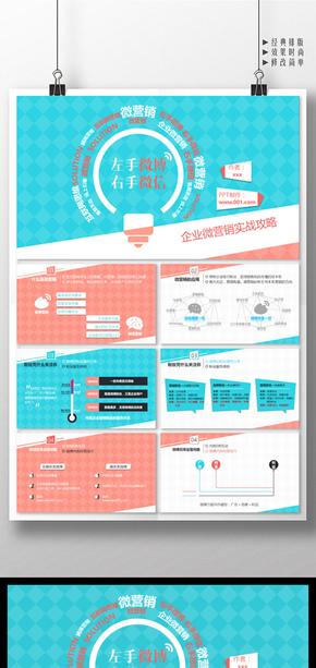企业微营销实战攻略工作汇报PPT模板