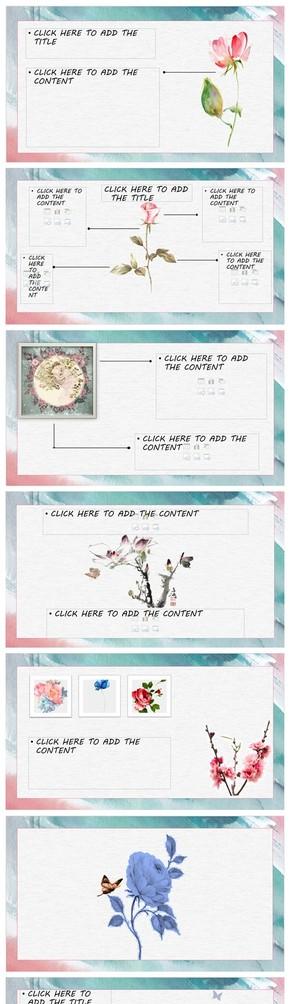 Flowers粉藍小清新