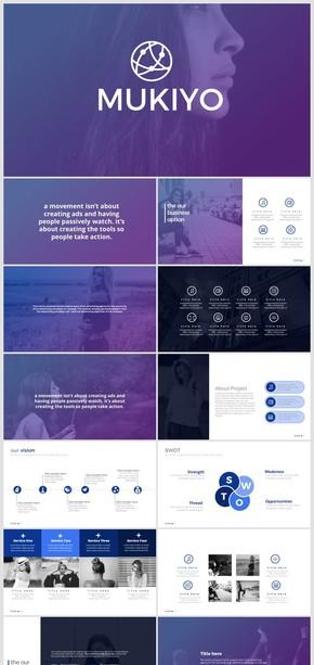 紫色时尚欧美大气工作总结公司简介营销策划ppt模板
