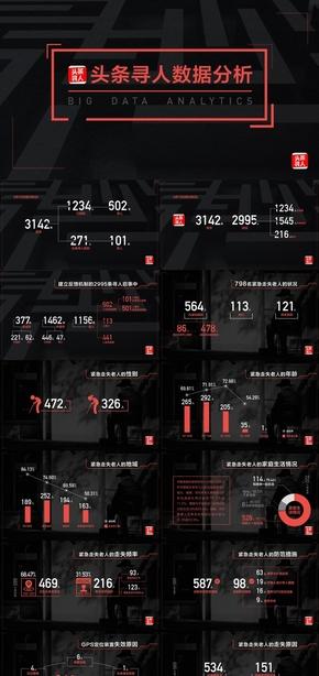 中国失踪人口调研分析寻人启示数据调研人口数据商务大气稳重工作汇报策划PPT