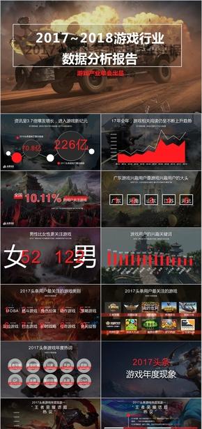2018年度游戏行业电竞LOL王者荣耀吃鸡荒野大数据分析报告