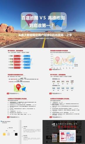 百度地图vs高德地图 互联网信息科技百度高德地图信息调查用户研究出行业谁是第一商务商业报告计划PPT