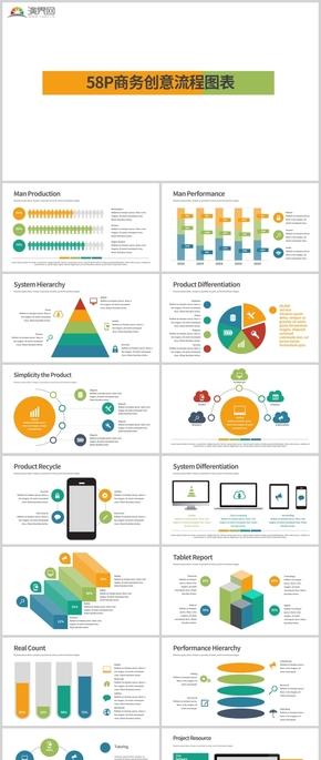 58P商務創意流程圖表合集