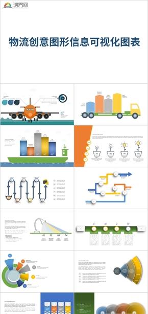 物流創意圖形信息可視化圖表