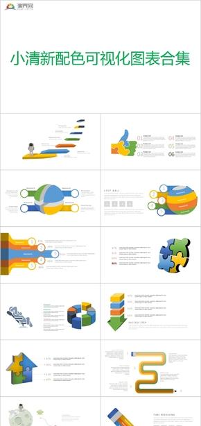 小清新配色可視化圖表合集
