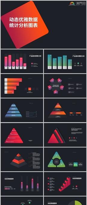 動態商務通用優雅數據統計分析圖表合集