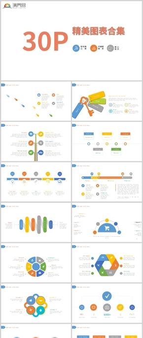 30P精美图表合集可编辑图表配色随心换