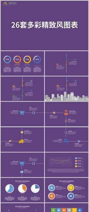 26套創意多彩精致歐美風圖表