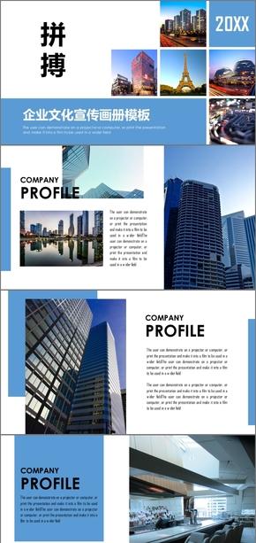 欧美风高端大气企业文化 公司宣传简介 企业宣传 企业文化 公司介绍 企业介绍PPT模板