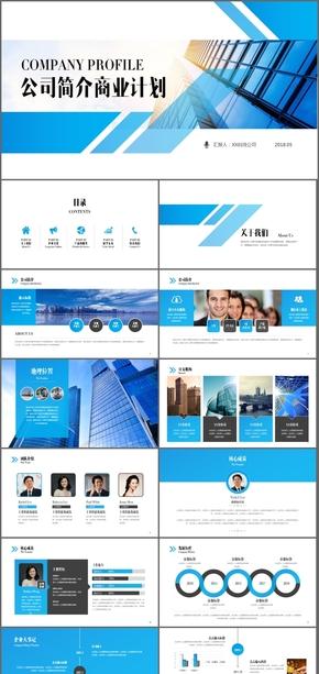 【框架完整】简约商务通用公司介绍项目投资总结汇报商业计划书PPT