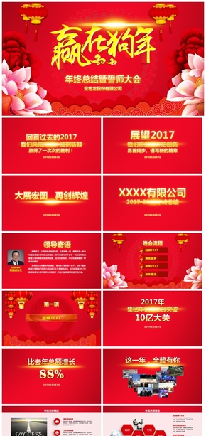 【年会颁奖】2018年会颁奖典礼狗年春晚员工表彰大会PPT