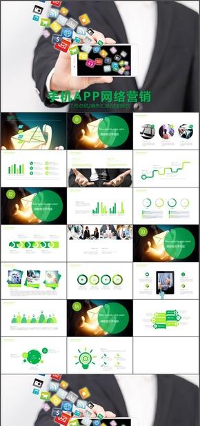 手机APP网络营销网络销售电子商务PPT模板