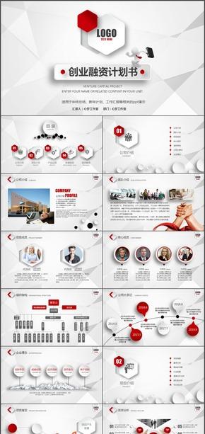 创业融资计划书公司介绍 红年终总结、新年计划、工作汇报ppt演示