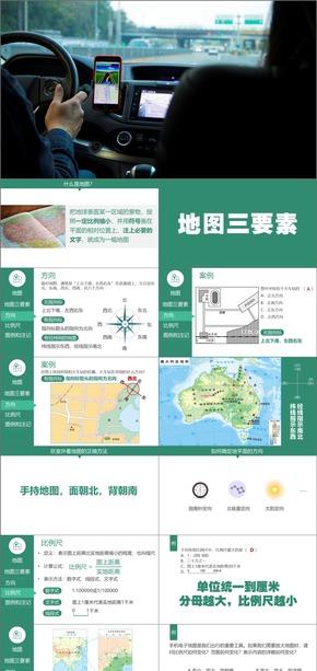 地图三要素,我们怎样学地理,地理,湘教版,初中,地图的阅读,初一,人教版,七年级