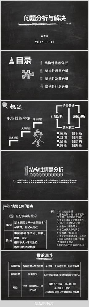 黑板手绘风问题分析与解决课件