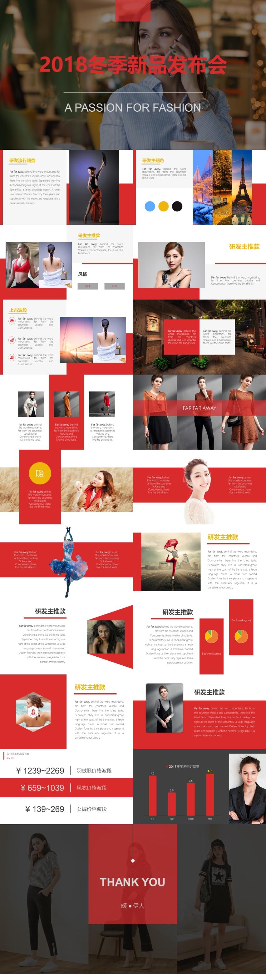 2018时尚女装行业冬季新品发布会模板(订货会模板)