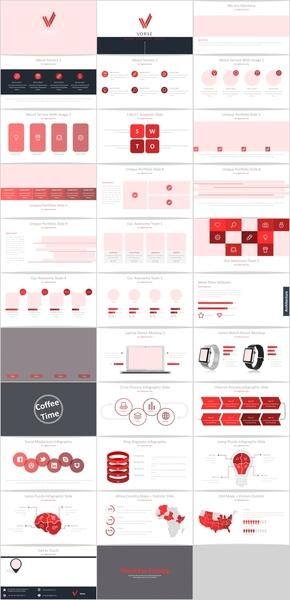 红色几何分专业商务科技汇报PPT模板