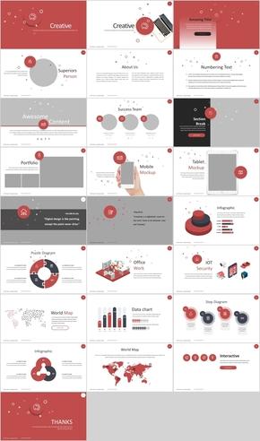 红色主题专业广告宣传现代PPT模板