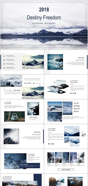 【ppt专属设计】极简大气欧美杂志风画册PPT通用模板