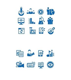 精选2套可编辑精致蓝色商务PPT小图标