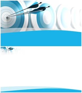 精选1款射箭目标命中靶子可编辑PPT背景图片