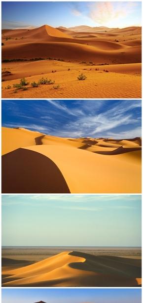 精选26款高清沙漠PPT背景图片