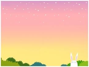 精选1款粉色天空可爱小兔子PPT图片