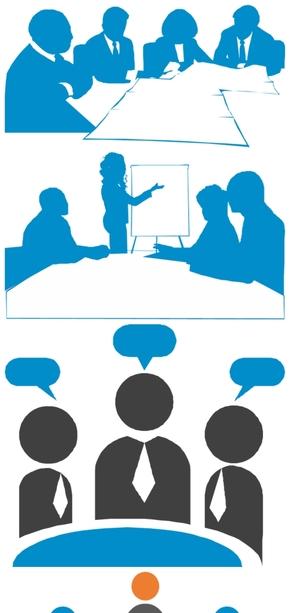 精选7款开会会议剪影PPT图片素材