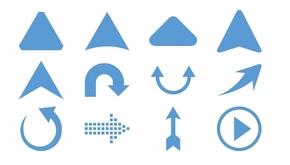 精选1套颜色大小可修改PPT箭头素材(3)
