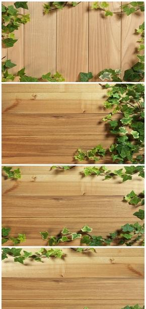 精选7款自然木板藤蔓PPT背景图片