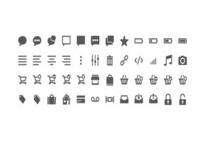 精选48款常用移动互联网时尚可编辑PPT图标素材