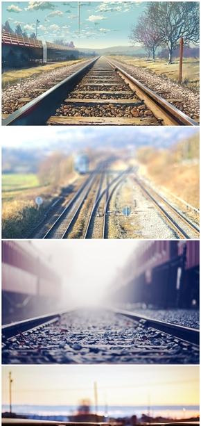 精选13款唯美铁道铁路PPT背景图片