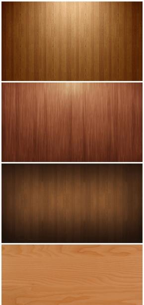 精选5款棕色木纹木板PPT背景图片