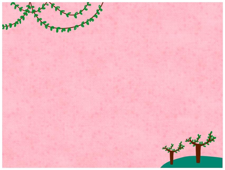 作品标题:精选1款粉色背景可爱小树ppt背景