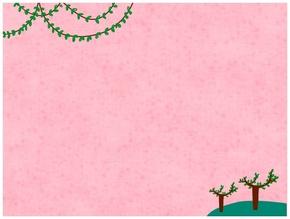 精选1款粉色背景可爱小树PPT背景