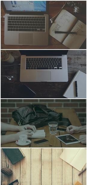 精选8款电脑办公桌面PPT背景图片