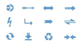 精选1套颜色大小可修改PPT箭头素材(5)