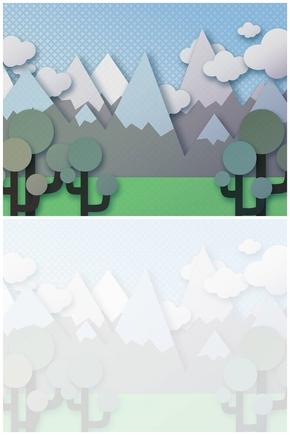 精选1套卡通剪贴画风格PPT母版