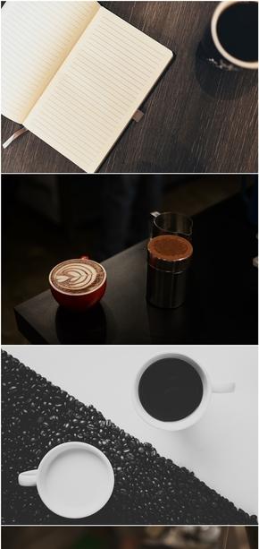 精选8款时尚咖啡杯咖啡PPT背景图片