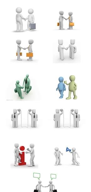 精选39款3D小人沟通交流PPT素材