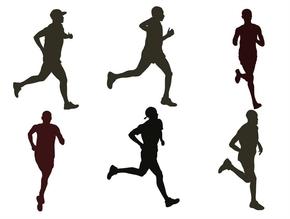 精选6款奔跑跑步运动剪影PPT素材