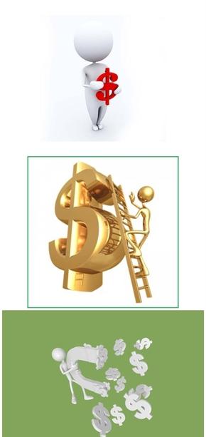 精选9套经济金融相关3D小人PPT素材