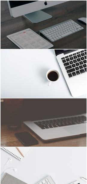 精选8款办公桌面电脑PPT背景图片