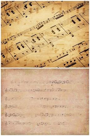 精选2款音乐符号乐谱PPT背景图片